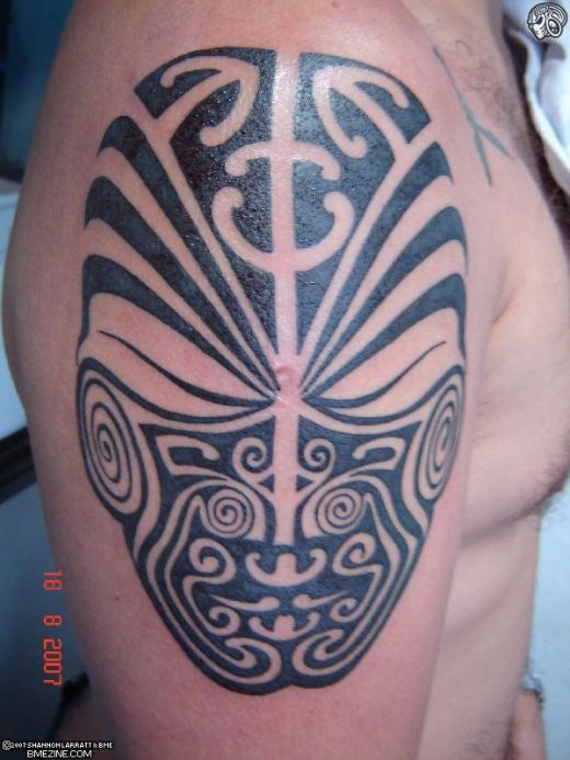 Tribal Mask Tattoos